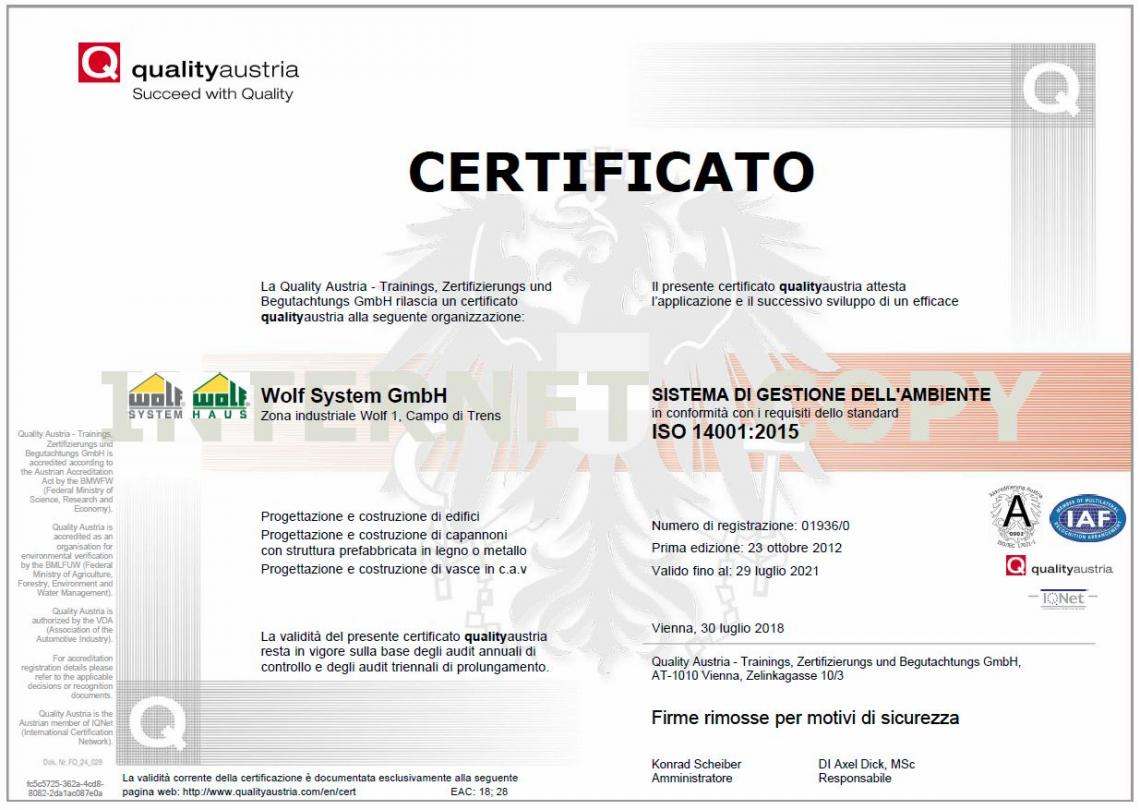 ISO 14001 - Wolf System