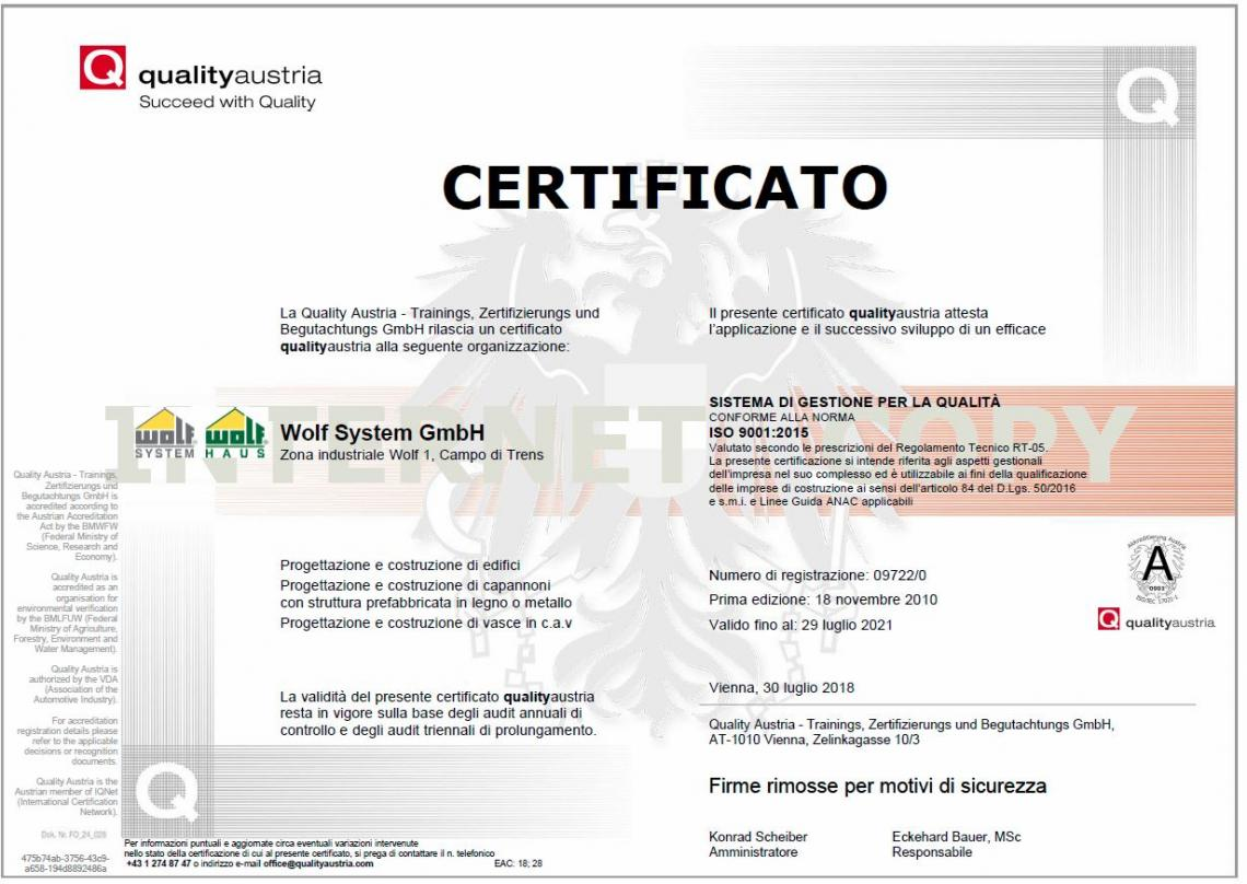 ISO 9001 - Wolf System